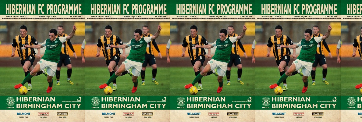 ISSUE 2 OF THE HIBERNIAN FC PROGRAMME