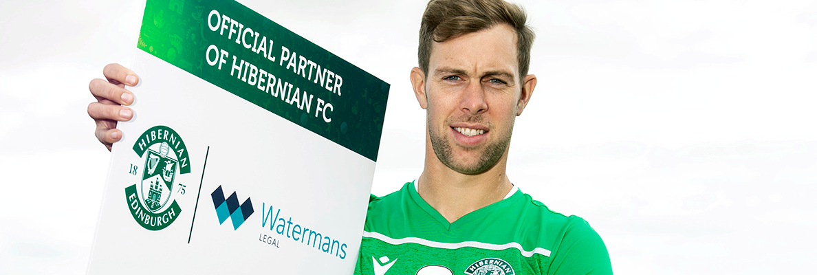 HIBERNIAN EXTEND DEAL WITH WATERMANS LEGAL