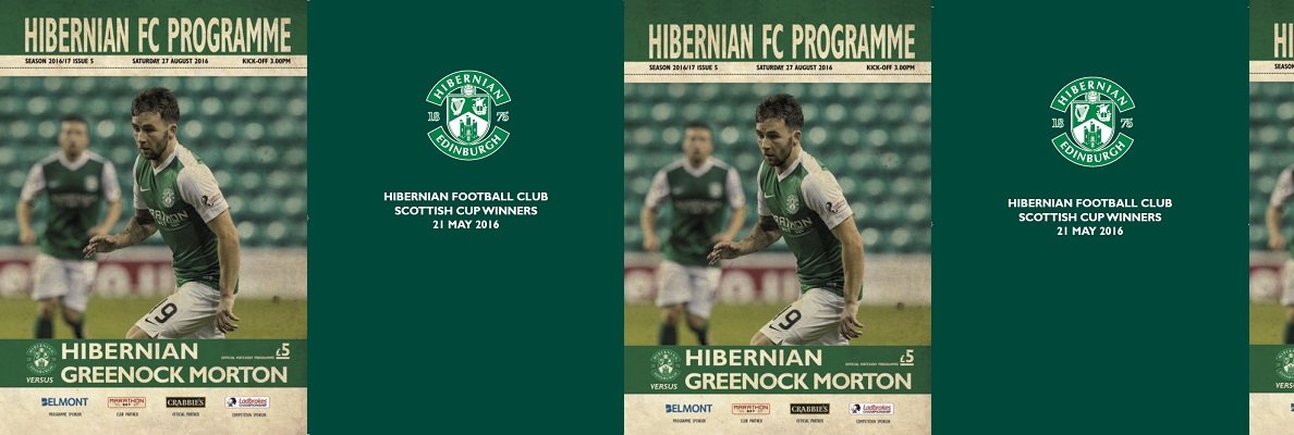 HIBERNIAN FC PROGRAMME: SCOTTISH CUP WINNERS SPECIAL EDITION