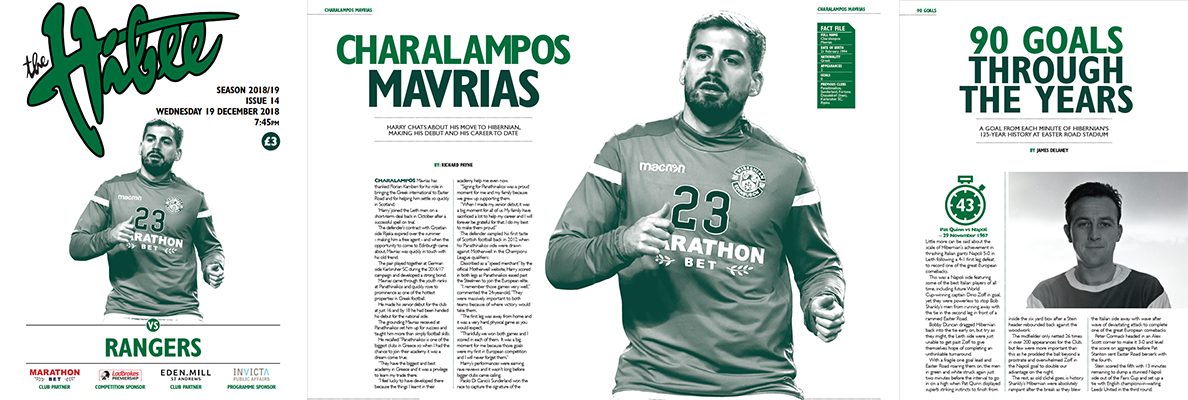 ISSUE 14 OF THE HIBEE FEATURES HARRY MAVRIAS ON THE COVER