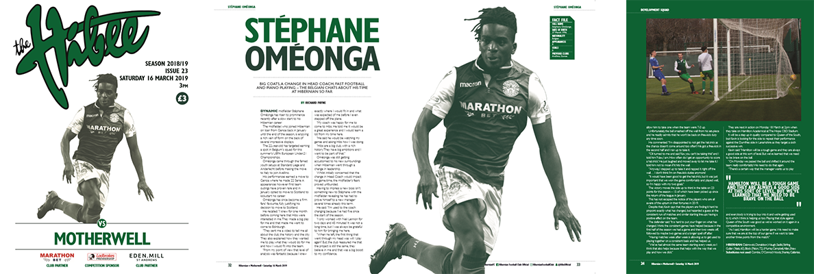 STEPHANE OMEONGA ON THE COVER OF ISSUE 23 OF THE HIBEE