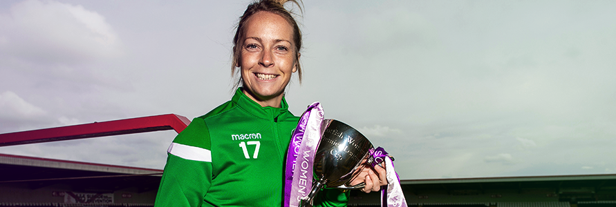 JOELLE MURRAY HOPING FOR A BIG HIBS SUPPORT AT FRIDAY'S SWPL CUP FINAL