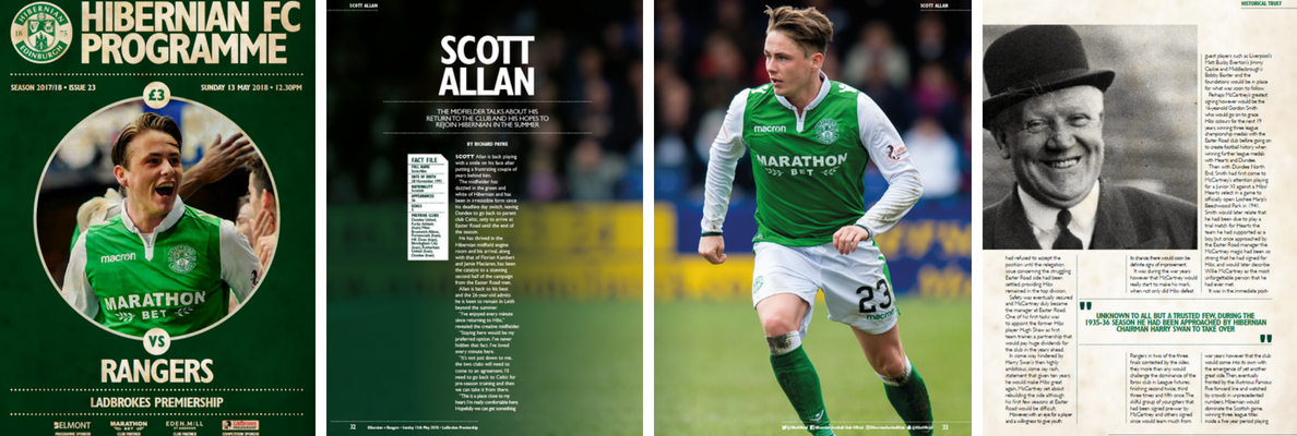 ISSUE 23 OF THE HIBERNIAN FC PROGRAMME
