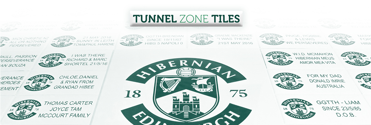 TUNNEL ZONE TILES AVAILABLE FOR OCTOBER INSTALL