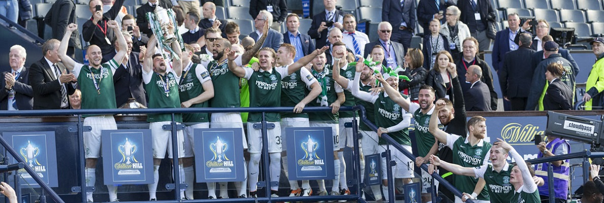 HIBERNIAN CONFIRM VICTORY CELEBRATIONS