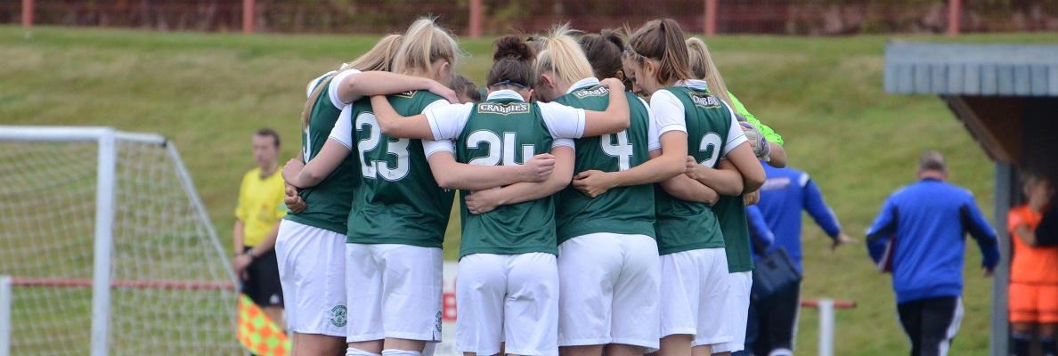HIBERNIAN LADIES AT EASTER ROAD ON SUNDAY