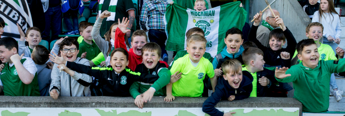 HIBS KIDS TICKETS FOR ST JOHNSTONE MATCH