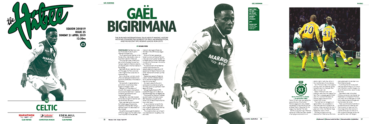 ISSUE 25 OF THE HIBEE FEATURES GAEL BIGIRIMANA ON THE COVER