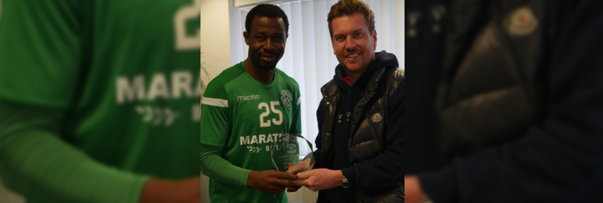 AMBROSE WINS NEWTOWN DECOR PLAYER OF THE MONTH FOR SEPTEMBER