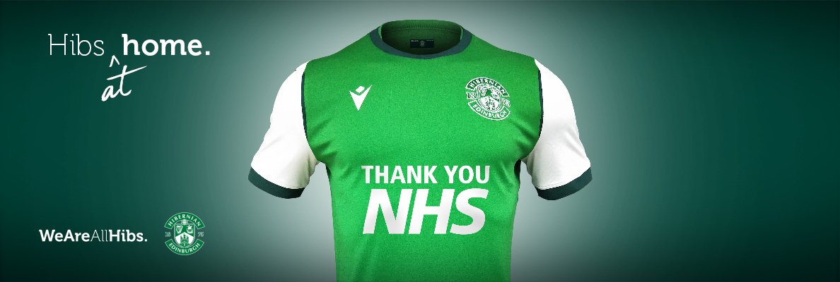 HIBERNIAN FC PROUD TO ANNOUNCE NHS THANK YOU