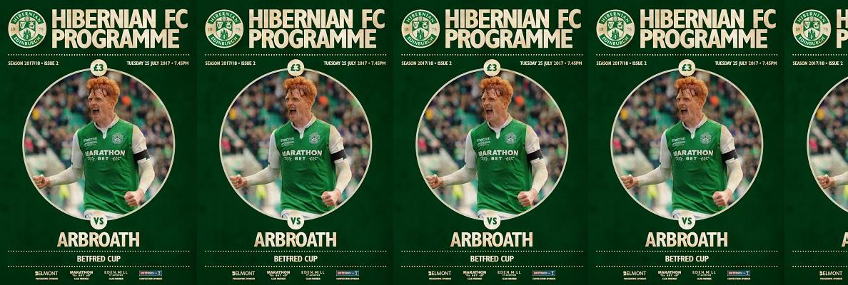 ISSUE 2 OF HIBERNIAN FC PROGRAMME
