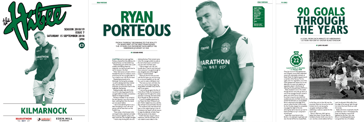 RYAN PORTEOUS ON THE COVER OF THE HIBEE