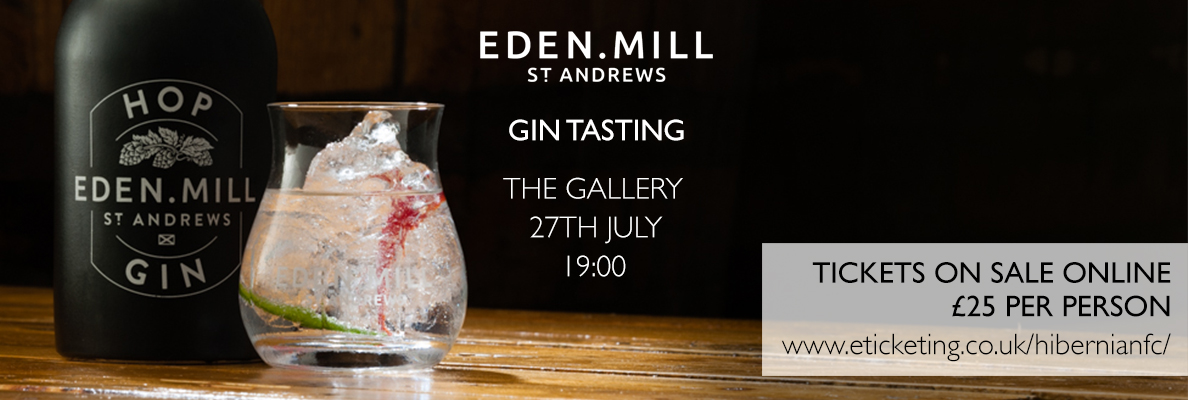 EDEN MILL GIN EVENT COMING TO EASTER ROAD