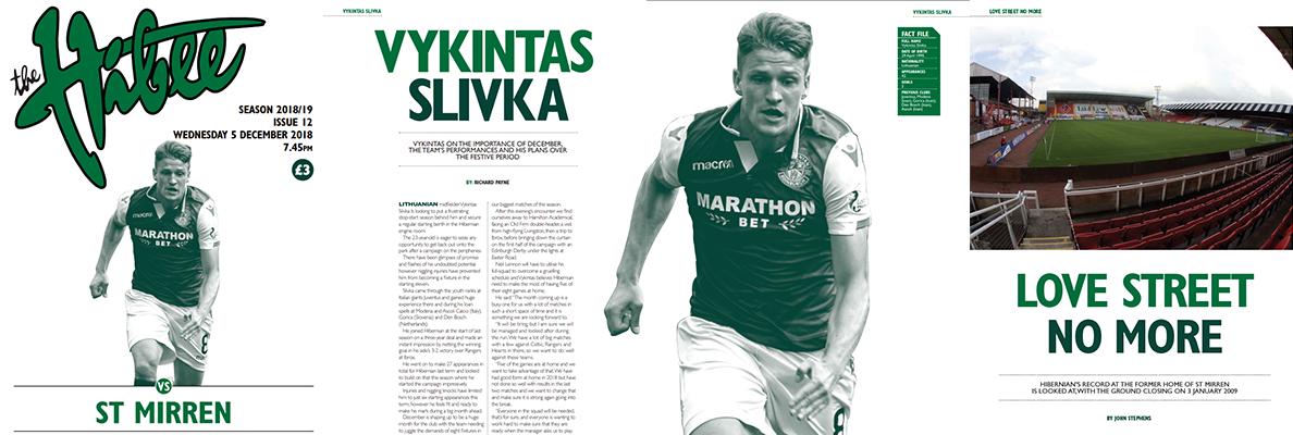 ISSUE 12 OF THE HIBEE FEATURES VYKINTAS SLIVKA
