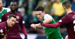 HIBERNIAN DRAWN TO FACE HEARTS AWAY IN THE SCOTTISH CUP