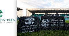 BECOME PART OF EASTER ROAD STADIUM WITH A WEST STAND STONE