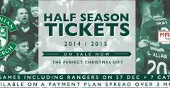 HALF SEASON TICKETS NOW ON SALE