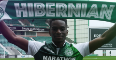 HIBERNIAN COMPLETE LOAN SIGNING OF STEPHANE OMEONGA