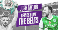 JOSH TAYLOR SET FOR EASTER ROAD!