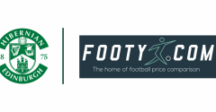 HIBERNIAN AGREE FOOTY.COM PARTNERSHIP