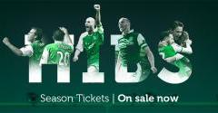 SEASON TICKETS BACK ON SALE