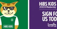 HIBS KIDS 2018-19 MEMBERSHIPS AVAILABLE NOW