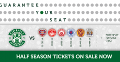 GUARANTEE YOUR SEAT WITH A HALF SEASON TICKET