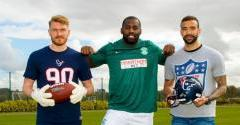 NFL STAR VISITS THE TRAINING CENTRE