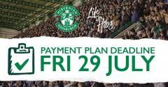PAYMENT PLAN DEADLINE ON FRIDAY